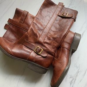 Mia | Brown Leather Boots | 7